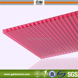 High Impact Resistance Twin Wall Polycarbonate Panel With UV Coated