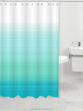 Blue And White Striped Shower Curtain