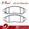 O-Pure Brake Pads 41060-EA025 Car Chasis Parts Supplier for Nissan Navara D40 Frontier
