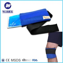 2015 Good selling PE reusable ice gel pack with cotton cover