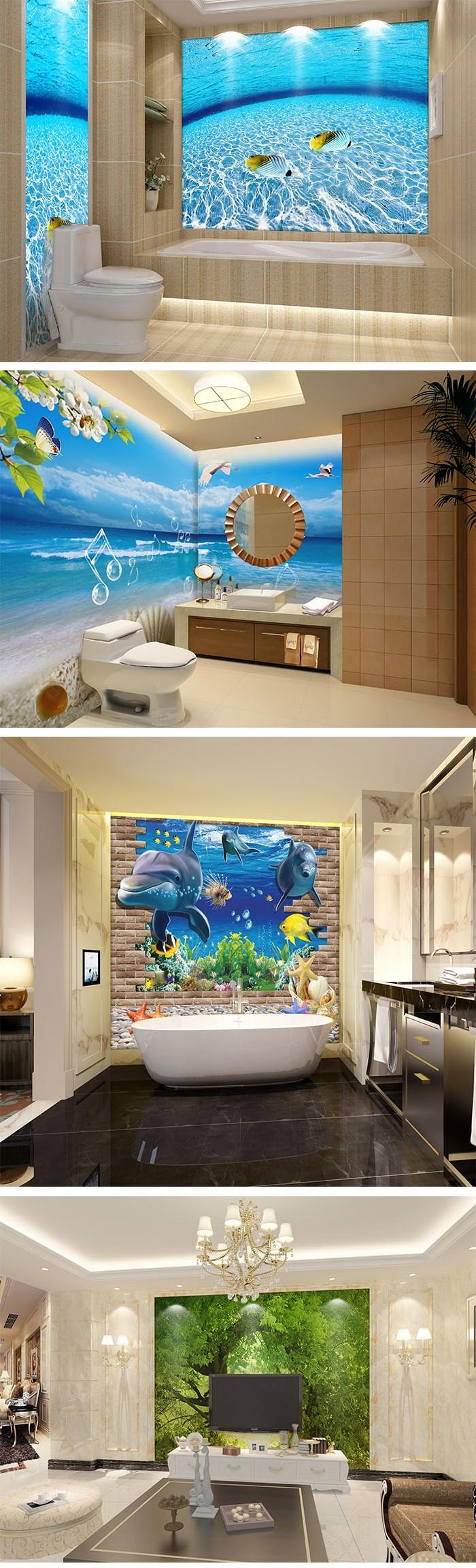 Eenvoudige ontwerp op maat oem goede prijs 3d vloertegel badkamer ...