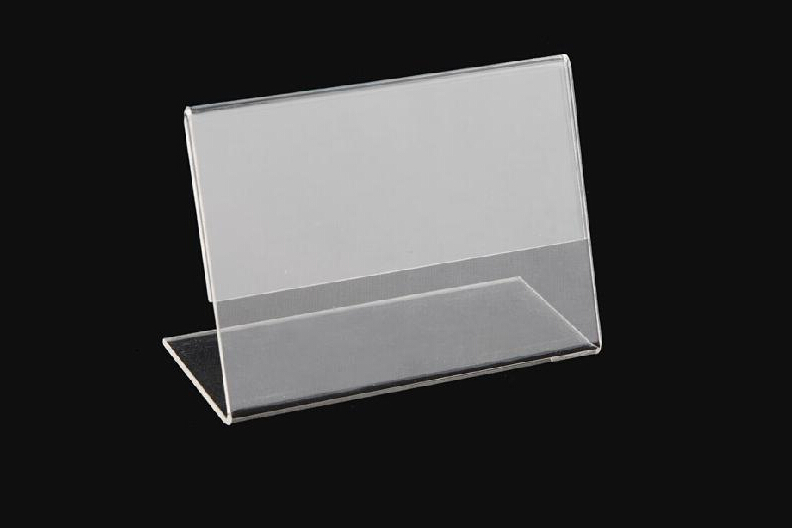 acrylic restaurant menu card holder/acrylic tent card holder wholesale