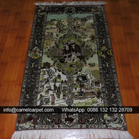 silk persian hand knotted real 240lines baby area rugs