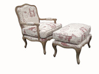 French style hand carved old wooden chair hotel room chair