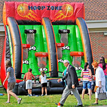 High qulity inflatable game meet EN14960/New Products 2014 Giant Basketball hook game