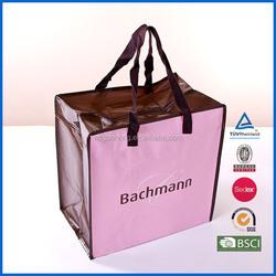 Guohong 140gsm laminated non woven foldable zipper bag
