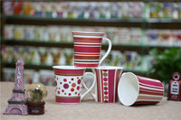 Wholesale trumpet model ceramic geometry coffee mug