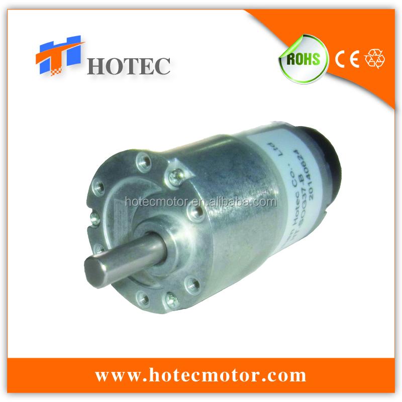 37mm Diameter Gearbox Reversible Low Noise 12v 8rpm Silent