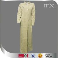 2015 New Design Jilbab Abaya Beautiful Check Cardigan Dress High Quality Dress