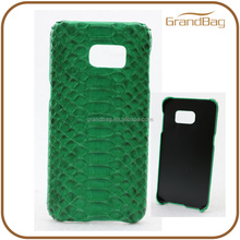 Green Genuine Python Skin Snakeskin Leather Phone Case for Samsung Galaxy S5