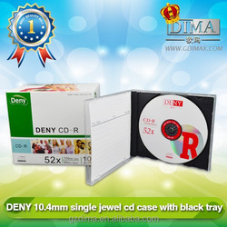 Cheap price high quality blank cd cases with black tray