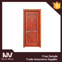Classic antique hand carve panel interior meranti wood door design