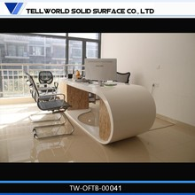 Elegant Modern Office Table Design/Solid Surface Executive CEO Office Desk