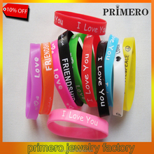 PRIMERO New basketball sports wristband 100% silicone multicolor gym fitness power bands energy i love you bracelets