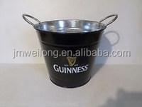 Top Supplier on BBQ Bucket/Black Small Household Cooler/Zinc Metal Garden Beer Bucket/Pails