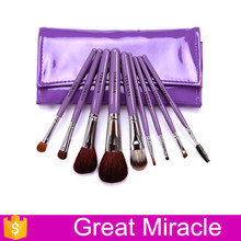 9PCS goat hair personal care face makeup brush