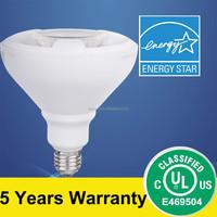 UL Approval PAR38 LED Lamp 15.5W 1250lm 40D Beam Angel 3000K Dimmable CRI>80