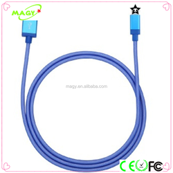 Fishnet Braided Aluminium USB Charger Cable For Cellphone