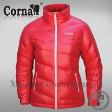 China factory supply red down jacket lightweight ladies winter jacket women parkas