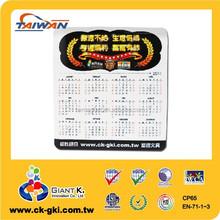 Customized dry erase tear-off magnetic calendar holder