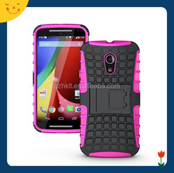 China wholesale! For Motorola moto g2 heavy duty hybrid rugged case 2 in1 slim armor cell phone case