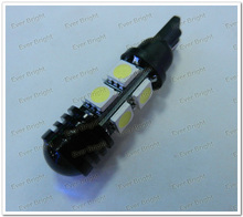 Hot sale !T10 194 168 W5W 5050 8 SMD + 1.5W Lens High Power LED Lights, Led Signal Bulbs Led License Plate Lamps