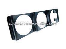 Universal 52mm 2 Inch Black Tripe 3 Gauge Meter Radio Din In Dash Panel Gauge Pod
