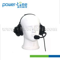 Earplug microphone aviation 2 way radio headset(PTE-740)