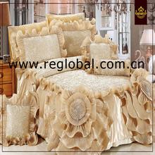 full luxury wedding comforter set middile east taste romantic gold color