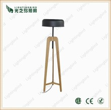 wooden tripod floor lamp/wood standing lights/wood deck lights for indoor fruniture decor