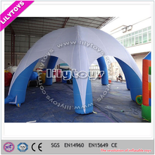 Top quality hot selling potable inflatable camping tent with six feet