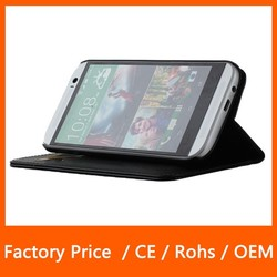 For HTC m8 High Quality Super Slim Stand Flip Leather Case with Credit Card Function