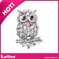 Top selling Owl crystal rhinestone brooches