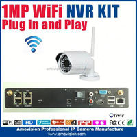 4ch NVR KIT 720P 1.0mp Wireless wifi outdoor IP Camera P2P Home alarm video push CCTV Security Surveillance system 4ch nvr