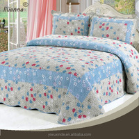 yiwu xinde export cotton fabric cartoon quilts patchwork bedding set