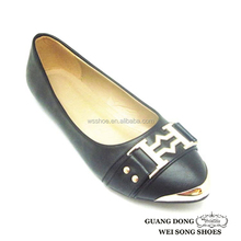 metal decorative shoes open toe hollow out decoration PU shoes adult women shoes made in china
