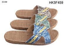 Unisex Jeans Upper Hemp Rope slippers nude outdoor slippers