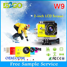 Hot sale 12mega 1080P Waterproof 30M action cam rc light weight video camera best for bike