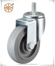 Grey rubber casters and wheels