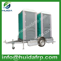 low price high quality new style plastic outdoor public mobile WC portable toilets with urinal