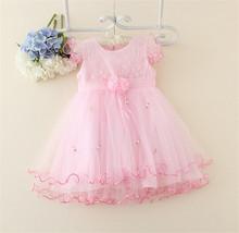 ดอกไม้สีชมพูtutuชุดพรหมสำหรับเด็กแบรนด์เสื้อผ้าเด็กในช่วงฤดูร้อนขายส่งชุดสาวดอกไม้สำหรับสาวทารก3ปี