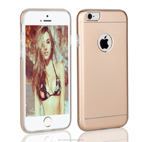 fashion Exact-Fit 2 in 1 Aluminum TPU custom cell phone cases for iphone 6