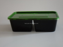 750ml 2-Compartment Microwave Safe Food Grade Plastic Container