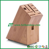 strong natural bamboo wooden kitchen knife block/ storage