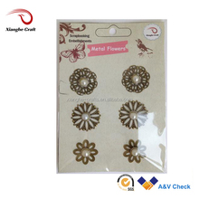 small wholesale metal flowers ornaments for crafts