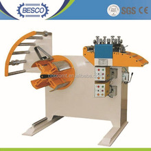 China supplier metal sheet straightener cum decoiler/uncoiler 2 in 1 machine for medium thickness material