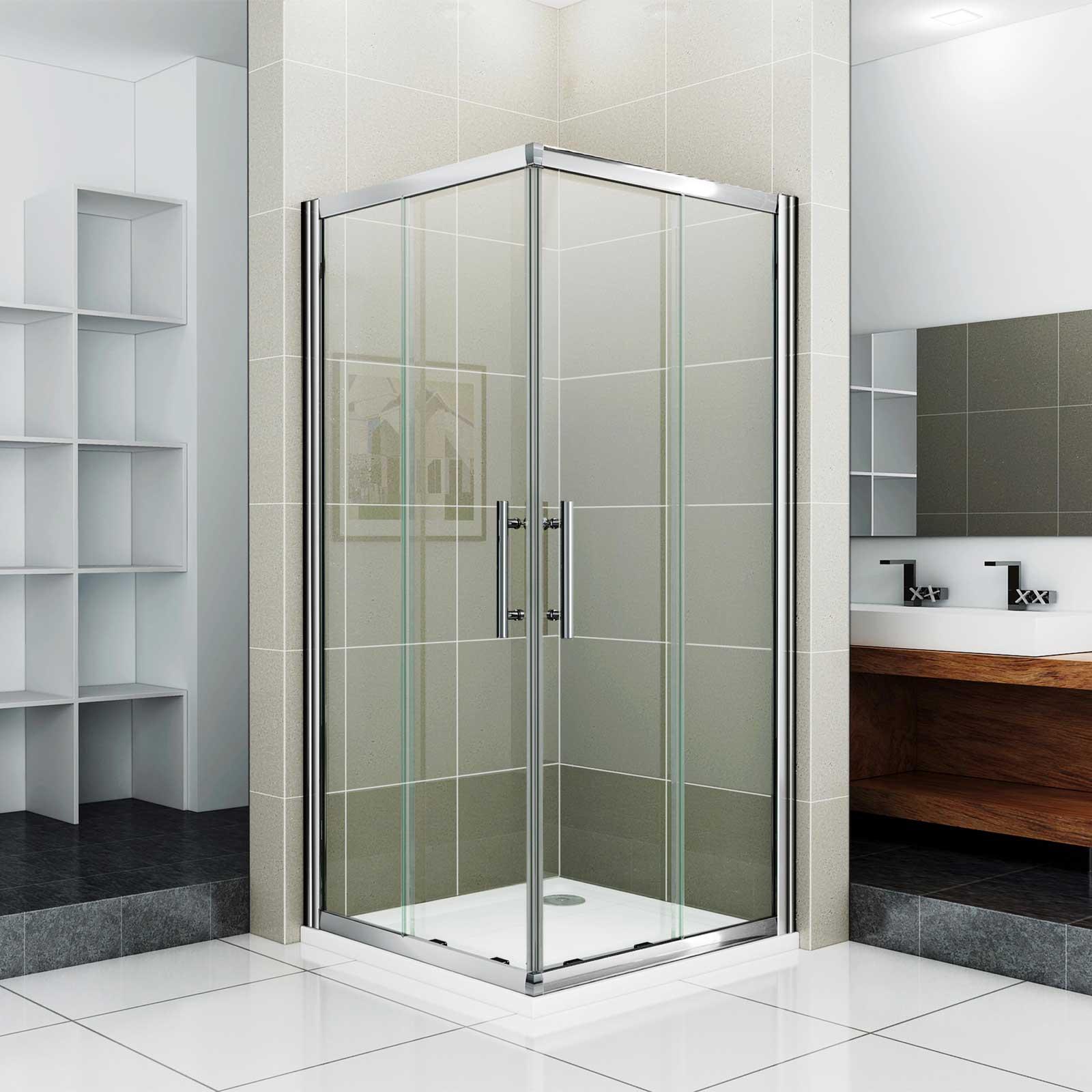HSR02 90020 Corner Shower Enclosure Entry High Sliding Door Cubicle View Sli