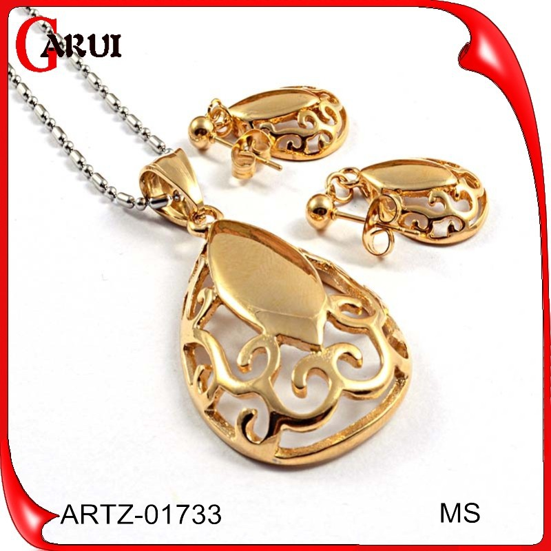 china hip hop jewelry african gold plated jewelry sets