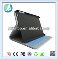 2014 new product stand flip leather cover case for ipad mini 2