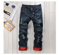 Hot Sale Blue 2014 New Style Fashion Man Jeans Wholesale Price straight men jeans